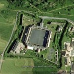 Google Earth image of Defencible Barracks Pembroke Dock