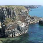 Limestone sea cliffs