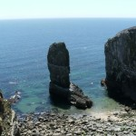 Two limestone sea stacks