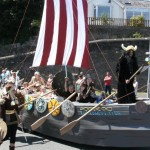 Hubba the viking at Milford Haven carnival 2011