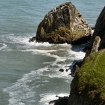 Sea cliffs on Dinas Head