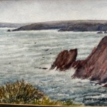 Water colour of Dale Bay by Grace Scurlock