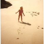 Young Joanne on Musselwick Sands