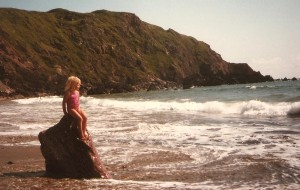 Joanne – the little mermaid – on West Dale beach