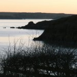 Evening at the entrance to Sandy Haven Pill